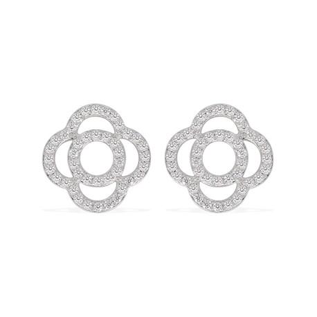 Boucles d'oreilles Argent et Oxyde